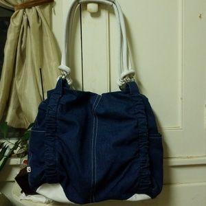 Elle Denim Shoulder Bag